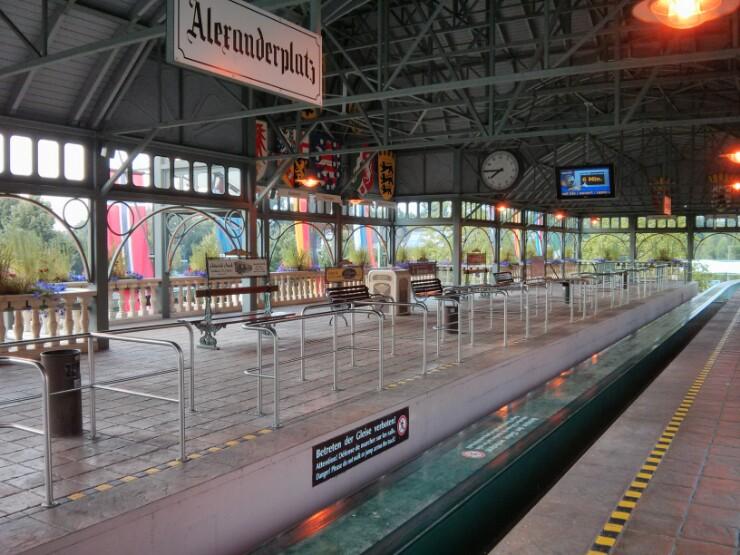 EuropaPark Railway. AlexanderPlatz station