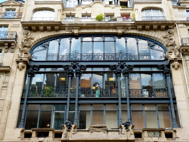 Façade métallique Art Nouveau