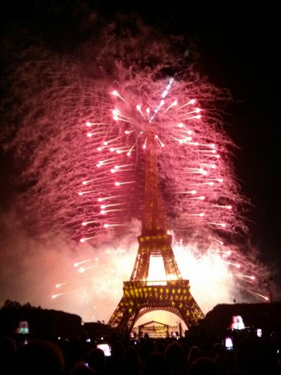 Eiffel Tower in Fire